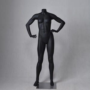 Black female muscle mannequin standing mannequin for sale(MPM)