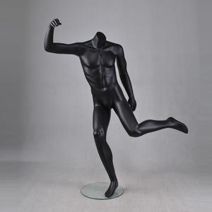 Athletic mannequin display football sportswear muscle male black mannequins for sale(JPM)