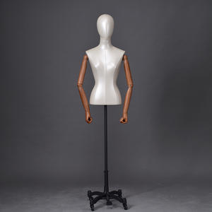 Wholesale Leather Finished Female Half Body Manikin Dressed Mannequin (CDM)