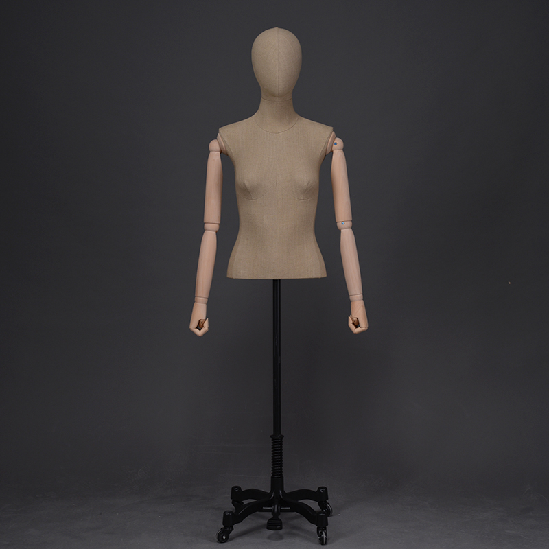 High quality dress forms for sale women mannequin bust form with arms(LDM)