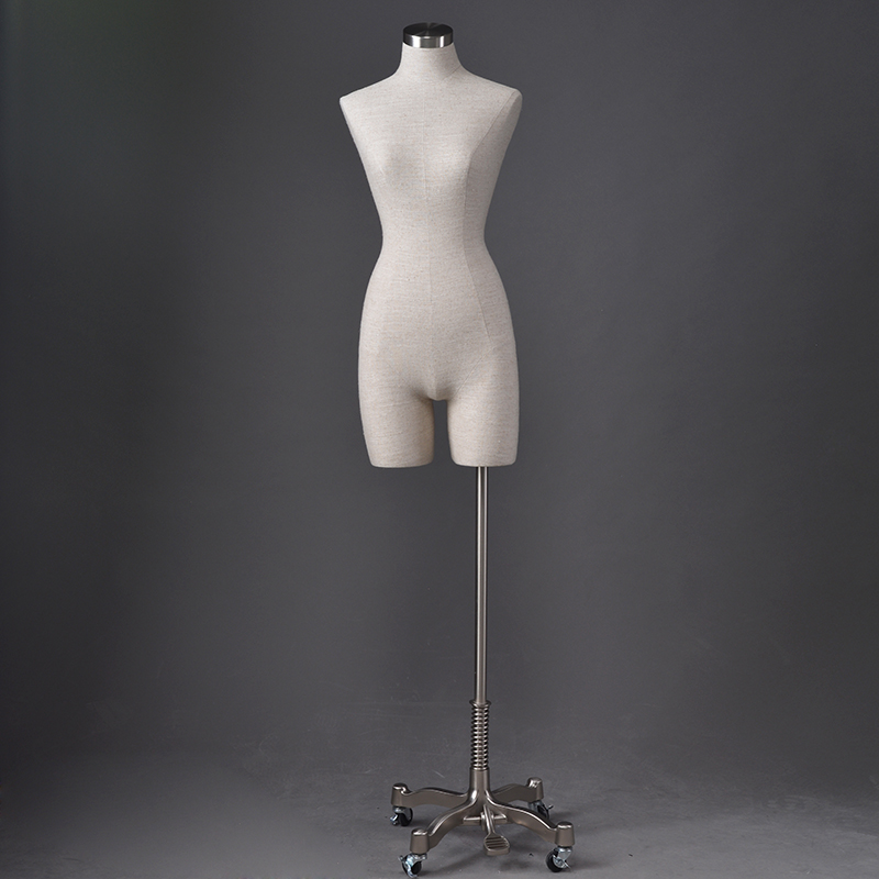 Customized fabric covered mannequins female half torso mannequin (ODM)