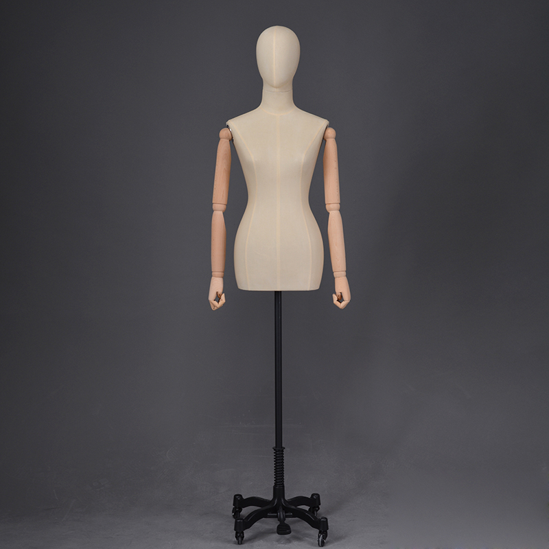 Fashion clothing dummy female fabric covered mannequins for clothes display (RDM)