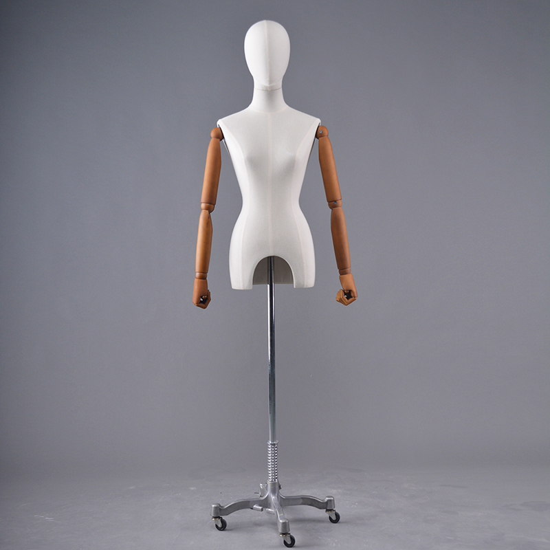 Cheap upper body mannequin fabricr covered fiberglass cheap dress forms mannequin (TFM)