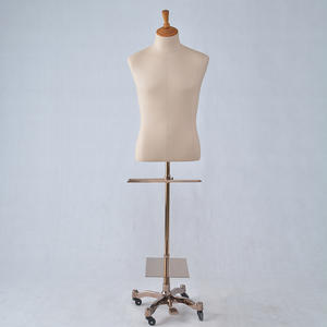 High Quality Upper Body Mannequin Fabric Covered Fiberglass Men Suit Mannequin For Sale (XFM)