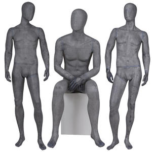 Sexy lifelike male mannequins fiberglass vintage black male mannequin for clothing shop(GM vintage mannequin)