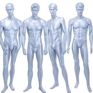 Customized Fashion Store Male Mannequins For Sale Glossy Grey Male Mannequin For Showcase Display(HTM)