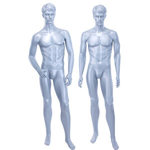Fashion Store Male Mannequins For Sale Glossy Grey Male Mannequin For Showcase Display(ITM)