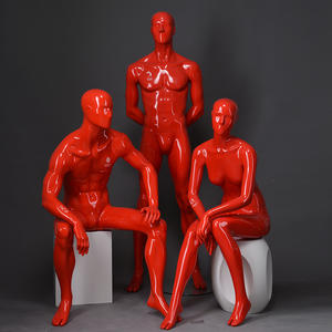 Fashion Store Male Mannequins For Sale Glossy Pink Male And Female Mannequin For Showcase Display(KTM)