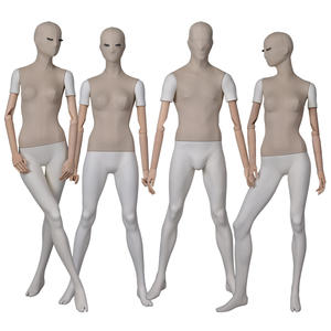 Customized wholesale male mannequins for sale fabric wrapped male and female mannequin for window display(PTM)