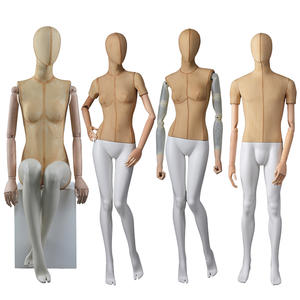 Hot Sale Fiberglass Fabric Mannequin Male And Female Manikin For Window Display(AWM)