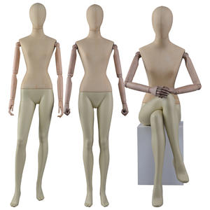 Customized Full Body Fabric Wrapped Mannequin Female With Adjustable Hand(CWM)