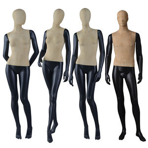 Fashion vintage mannequin fiberglass female fabric male manikin for window display(GWM)