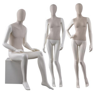 High Quality Mannequin Fiberglass Female Fabric Male Manikin For Window Display(HWM)