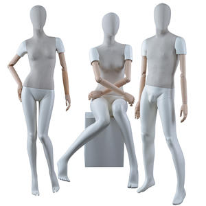 High Quality Hot Sale Female Mannequin Fabric Dress Form Mannequin With Wood Arms (IWM)