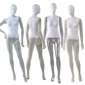 Wholesale Female Mannequin Fabric Cover Fiberglass Mannequin Transparent Resin Color Female Mannequin (KWM)