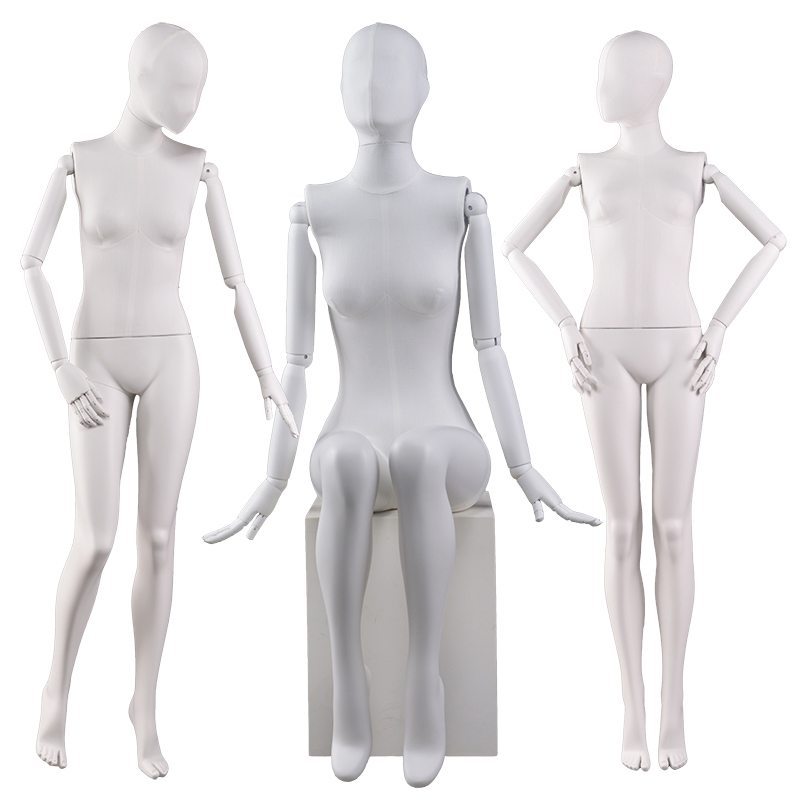 Customized Wholesale Female Mannequin Fabric Cover Fiberglass Mannequin(OWM)