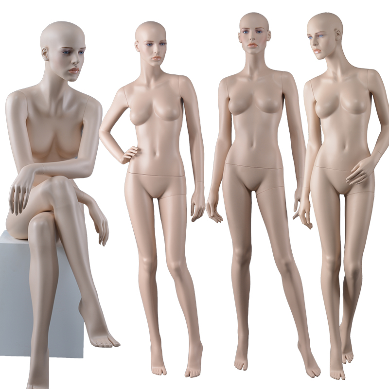 Plastic Sexy Big Breast Makeup Mannequin with wig sexy realistic female mannequin