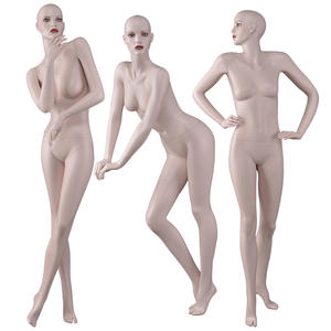 Fashion pose full body female makeup mannequins for window display(BW))