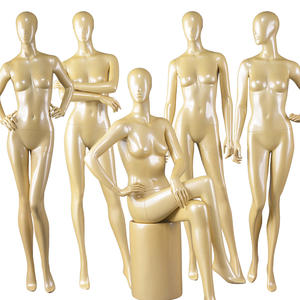 High end glossy yellow color fashion adjustable female mannequins(YFM series female mannequins)