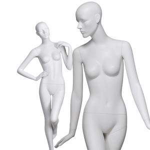 Fiberglass realistic sexy female mannequin matte white women manikin for clothing display(CX)