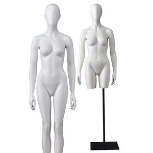 Egg Head Sexy Display Female Gold White Colored Female Mannequin Body(DMAF)