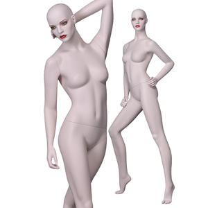Skin color lifelike female mannequin display lifelike dummy for sale(KNF)