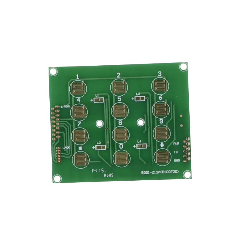 2 Layers Immersion Gold FR4 PCB Board Access Control Hotel Digital Lock