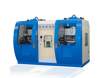 Double workstation vacuum silicone vulcanized press machine