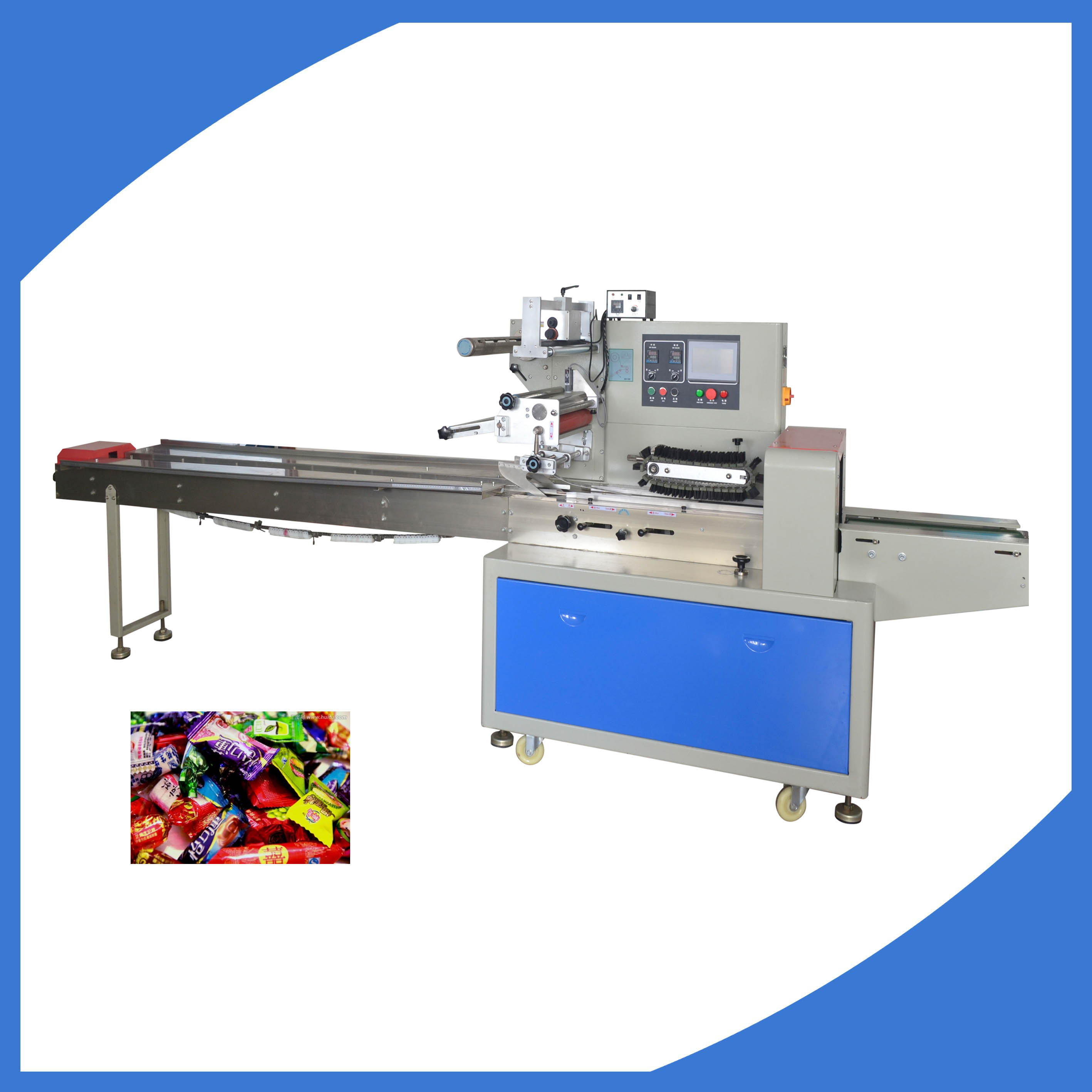 High quality candy sweets gummy dates packing machine