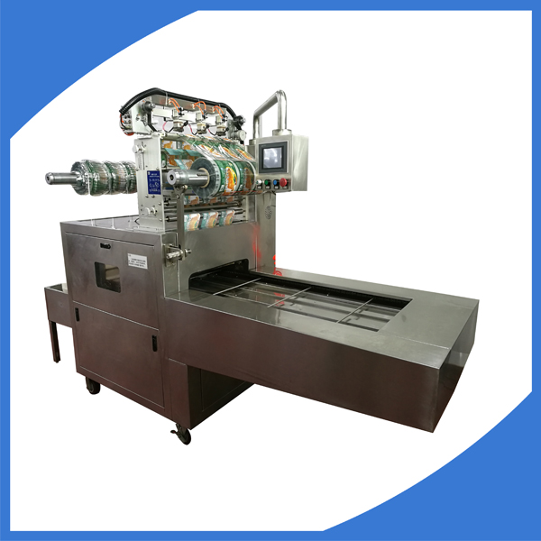 Modified atmosphere top sealing tray packing machine