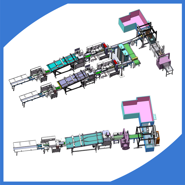Full automatic household gloves packing machine line