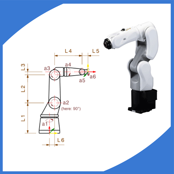 High speed 6 axis intelligent robot arm