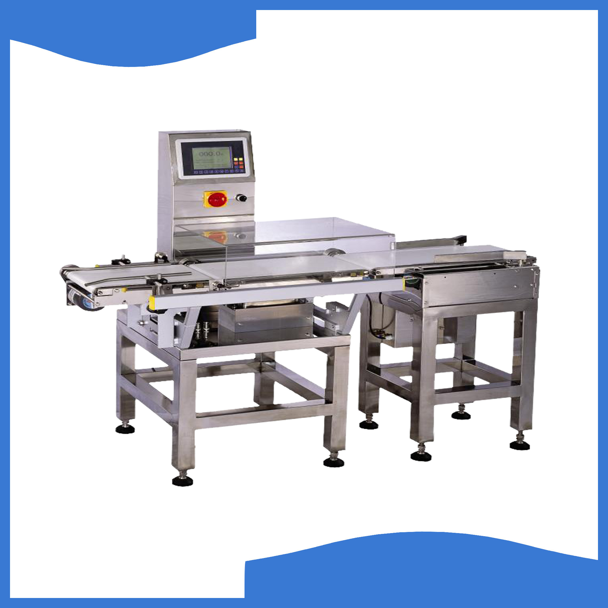 Automatic check weigher with pusher rejector