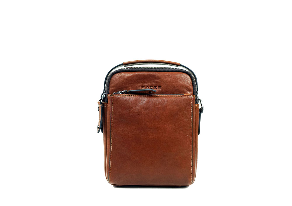 Small Men's Genuine OEM Leather Crossbody Bags 9907-5