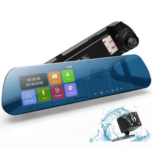 Frameless 3D Glass Heat-resisting Material Rearview Mirror Car DVR--CS8800L