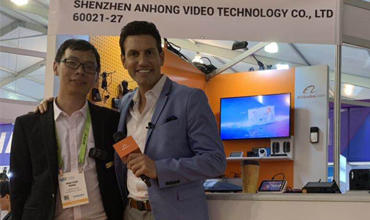 Anhong Video Tech made a figure at CES Exhibition 2019 in Las Vegas