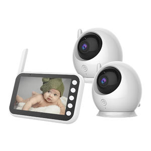 4.3inch Infant Nearly 5inch 480P Camera Video Audio Thermometer Temperature Sensor Cry Feeding Sleep 2 Cameras Baby Monitor