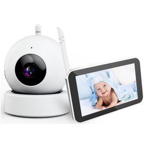 720P hd baby monitor with remote camera 5inch large touch screen