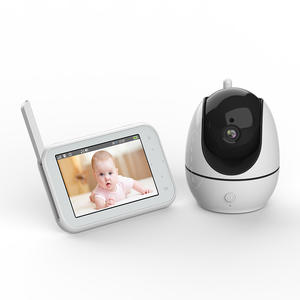 2020 new video baby monitor 2.4G wireless 4.5inch night vision smart babyfoon sd card audio record 720P PTZ ai IP camera