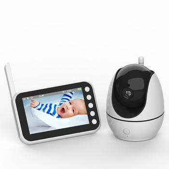 New 2020 Baby Monitor 720P HD Screen Video Audio Loop Recording Super Night Vision  Temperature Sensor Wireless Bebe Camera