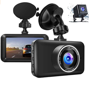 Amazon Hot Sale 1080P Front Car Black Box 3Inch Dvr Recorder 720P Rear Lens Wholesale Dash Camera