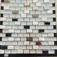 White small ceramic tiles for mosaics