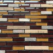 Japanese design colored glass mosaic tile