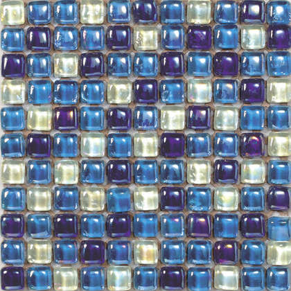wholesale clear colorful decoration wall 14mm glass mosaic DAH077
