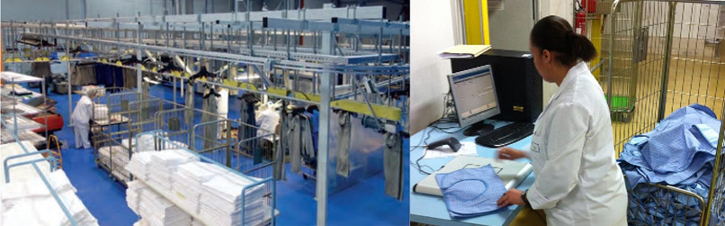 RFID tags to Textile garments