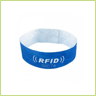 13.56MHz  rfid disposable paper wristbands for festival events