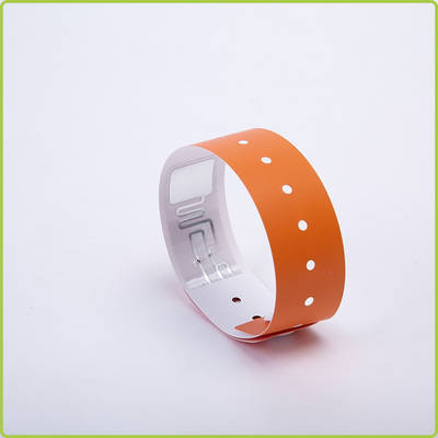 wholesale 13.56Mhz rfid disposable paper wristbands as tickets for concert