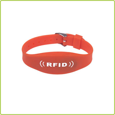 Free sample Customized Logo adjustable rfid silicone wristband made in China