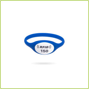 Reusable 125khz TK4100 Silicone Wristband ID Tag For Water Parks