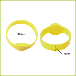 NTAG213 NFC silicone wristband for both adults and teens